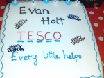 Tesco Birthday cake (his favorite place for 2 years)